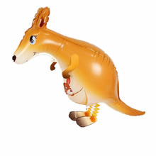 10pc Animal shaped balloons walking pet kangaroo aluminum foil balloon Baby children birthday inflatable toys party balloons