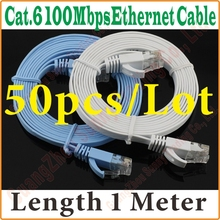 BEST PRICE BEST QUALITY, New 3FT 1M CAT6 CAT 6 Flat UTP Ethernet Network Cable RJ45 Patch LAN Cord wholesale
