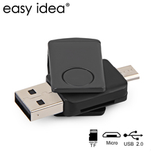 EASYIDEA Card Reader USB OTG TF Memory Card Reader Adapter High Quality 480Mbps Support PC Smartphone
