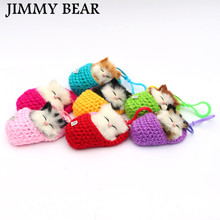 JIMMY BEAR 1 Pcs Super Cute Simulation Sounding Shoe Kittens Cats Plush Toys Kids Appease Doll Christmas Birthday Gifts(China)