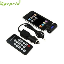 CARPRIE Super drop ship FM Transmitter With Car Charger Remote For iPhone 4S 4 3GS 3G iPod Touch Black Mar717(China)