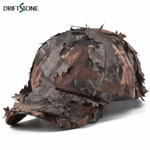 Men's Bionic Camouflage Cap Quick Dry Combat Snapback Hat Tactical Army Sniper Caps Jungle Leaves Conceal Camo Baseball Cap(China)
