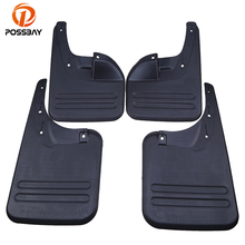 POSSBAY 4 Pcs Mud Flaps Splash Guards For Toyota Hilux Vigo 2006-2014 Front and Rear Mudguards Fender Accessories(China)