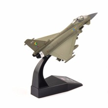 1:100 Scale Alloy Diecast Aircraft Airplane Model Toys Eurofighter Typhoon F.2 Fighter Model Toys for Children Gift(China)