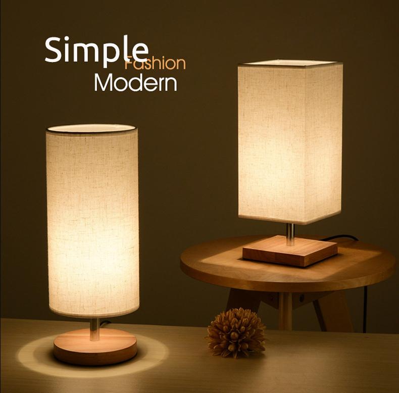 Lámpara de mesa de moderna vintage retro lámpara de mesa metal industria textil Design