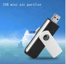 Computer oxygen anion USB air purifier computer clean mini car ionization ozone generator package mail(China)