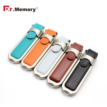 Leather usb flash drive PC accessories Novelty Leather USB Flash Drives 64GB 8GB 16GB 32GB Memory Sticks Pen Drives(China)