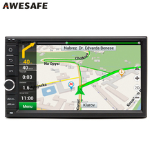 "AWESAFE 2 Din 7"" Car DVD Radio Player 1024*600 Android 6.0 Universal Car Tap PC Tablet For Nissan GPS BT Stereo Audio Player"