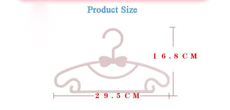 5Pcs Mini Plastic Non-slip Clothes Hanger Home Easy Hook Closet Organizer KH