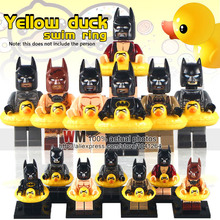 10Pcs Super Heroes  Duck Swimming Ring Bricks Action Figures Building Blocks Best Collection Toys for children