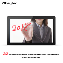 32 inch IP65 LCD Wide 16:9 P-CAP Capacitive Open Frame Touch Monitor FHD Resolution PCAP touch screen 10 Point(China)