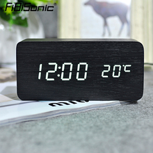 FiBiSonic Modern Home decor white LED Alarm Clock,saat Despertador Temp+date+time Electronic Digital Table Desktop Clocks(China)