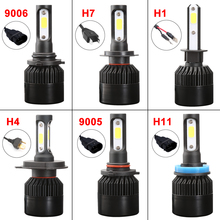 iSincer Car Styling Car LED Headlight 80W 8000LM H1 H4 H7 LED Headlamp Kit Hi/Lo Beam Bulb Kit 6000k 12V Auto for Auto K1(China)