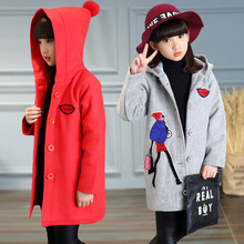 2017 Girl Jacket Outerwear Baby Girl Coat Kids Spring Autumn Clothes Hoodies Japanese Korean Version Cartoon Children's Clothing