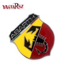 Hot 3D 3M Car Abarth AR Metal Adhesive Badge Emblem logo Decal Sticker character scorpion For All Fiat Abarth 124/125/125/500(China)