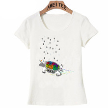 A positive turtle spreading some happiness art printing T-Shirt Summer women t-shirt cute girl Tops cute tortoise design Tees(China)