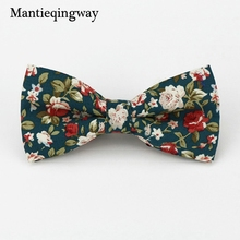 Mantieqingway Popular Bow Ties Cotton Floral Neckwear Bowtie for Men Suit Bow Tie for Mens Wedding Party Fashion Accessories