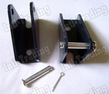 A Pair of 2PCS Black  Mounting Brackets For 12volt/24volt Mini Linear Actuator Motor Motion High Quality