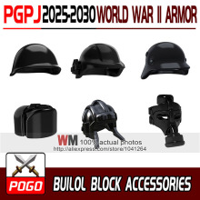 10pcs/lot World War Armor Science Fiction Armor MOC DIY Weapons SWAT Building Blocks Kids Toys Gifts