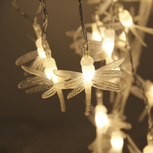 Solar Power Fairy String Lights 5M 30 LED Dragonfly/Butterfly/Dandelion Decorative Garden Patio Christmas Trees Wedding Party(China)