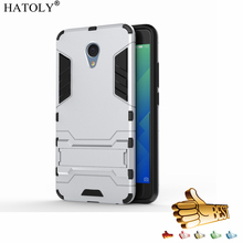 HATOLY Armor Case Meizu M5 Note Case Robot Hybrid Silicone Rubber Hard Back Phone Case Cover Meizu M5 Note 5.5""