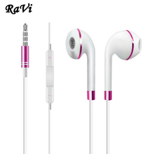 RAVI Earphone For Samsung Apple Earbuds Earphones In-Ear Stereo Headset with Mic Earphone For iPhone 4 5 5S 6 6S fone de ouvido