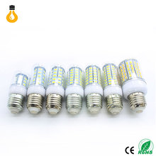 Lowest price High power LED Lamp E27 E14 220V LED Light 24/36/48/56/69/72/96LEDs Lampada LED Bulb Christmas Chandelier Lights