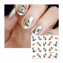 ZKO 1 Sheet Water Decal Nail Water Transfer Cute Cartoon Nail Sticker Stamping For Nails Art Stamp 126