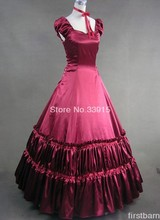 Wholesale Elegant Red Victorian Pattern Ball Gown Prom Lolita Dress Fashion Christmas Carnival Long Dress