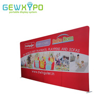 20ft*10ft Size Exhibition Booth Straight Tension Fabric Advertising Display Stand With Printed Banner,Portable Expo Fabric Wall