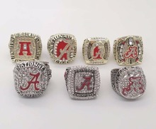 Wholesale Alloy Rings Sets for Replica  7 Years  1992/2009/2011/2012/2015/2015 Alabama Crimson Tide National Championship Rings