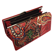 Genuine Leather Women Wallets Long Purse Vintage Cowhide Multiple Cards Holder Clutch Bag Embossment Wallet Large Capacity
