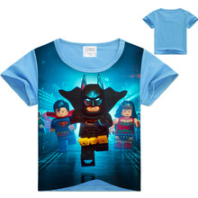 2017 Summer Children's clothing Baby boys girls T-shirt Legoe batman Ninja Ninjago cartoon T-shirt tops superman T shirt 3-10Y
