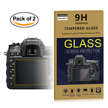 2x Self-Adhesive 0.3mm Glass LCD Screen Protector for Nikon D5600 D5500 D5300 Digital Camera(China)