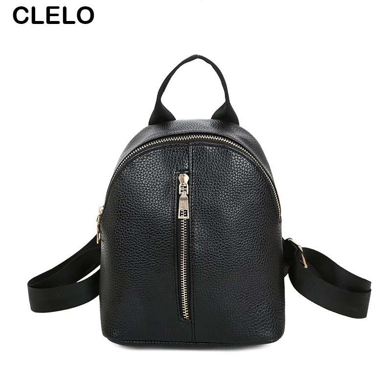 CLELO Fashion Women Backpack PU Waterproof Backpack Small Preppy Style For Teenage Girls School Shoulder Bag Bagpack Mochila<br><br>Aliexpress