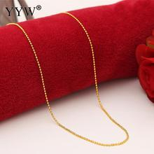 Elegant 24k Gold-Color Necklace Chain For Women Bar Chain Gold Filled Chain & Necklace Women's Jewelry Party Gift