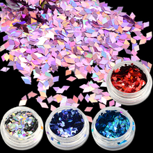 1g Rhombus Glitter Laser Effect Nail Art Sparkly Paillette New Fashion Designs for Nail Art Decorations Powder Slice LS01-16