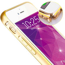 Bumper for Iphone 5 5S SE Phone Case Ultra Thin Aluminum Metal Frame Anti-knock Gold Rim Phone cover For iPhone 5S