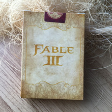 Classic Game FABLE Cute Poker Card To Do The Old Yellow Background Collection Poker Christmas Gift
