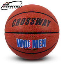 Factory direct CROSSWAY orange red 6# basketball lady's match teenagers primary and middle school students outdoor ball 690