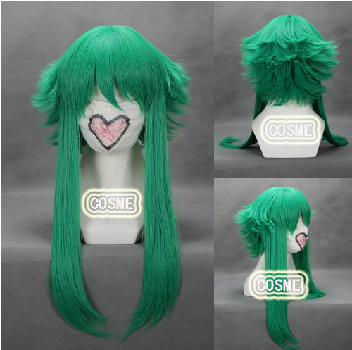 Vocaloid Gumi 45cm green shaggy layered anime cosplay cos wig Free shipping<br><br>Aliexpress