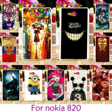 Hard Plastic Painted Case For Nokia 820 For Nokia Lumia 820 N820 878 4.3 inch Smartphone Shell Hard Back Cover Skin Housing Hood