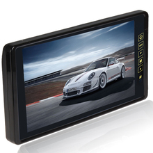 "9""  TFT LCD Widescreen Car Rearview Monitor Support 2 Way Video Input With Touch Button Remote Control"