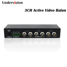 3channel Active video balun AHD CVI TVI CVBS compatible with 9-40V input(China)