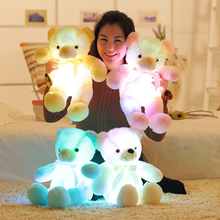 50cm Glowing Teddy Bear Light Up LED Teddy Bear Stuffed Animals Plush Toys Colorful Teddy Bear Christmas Gifts For Kids(China)