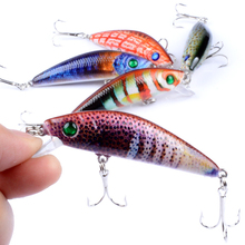 1PCS 7cm 8.2g Sinking Slowly Wobbler Minnow Fishing Lure Artificial Painted Hard Crank Bait top water Mini Fishing Lures(China)