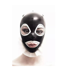 Buy Body Stocking 2017 Hot Sale exotic Hot Sexy Women Latex Spliced Side Frilly Hoods Female Open Mouth Mask Monochrome