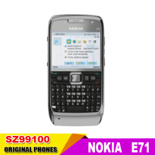 E71 original Nokia E71 GPS WIFI Bluetooth 3G JAVA 3.2MP mobile Phone Symbian os Good quality refurbished Free Shipping