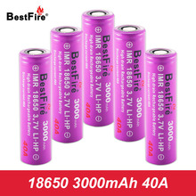 18650 Rechargeable Battery Li-ion Vape Battery 3.7V Bestfire Lithium 3000mAh 40A Eleaf iStick Pico Mod Tools Toys A050