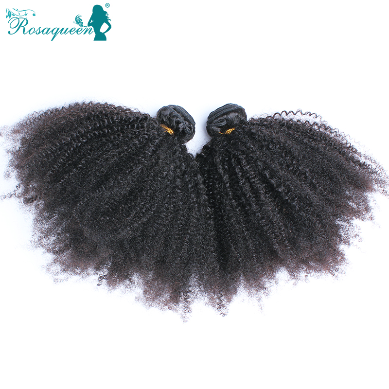 Rosa Hair Products Peruvian Kinky Curly Virgin Hair 2Pcs Lot Natural Black Afro Kinky Curly Hair Human Hair Weaves Free Shipping<br><br>Aliexpress